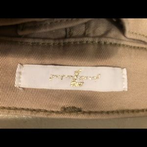 7 For All Mankind Jeans - 7 for all Mankind gold shimmer skinny jeans